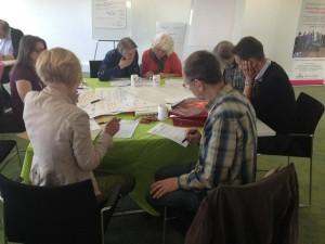 Workshop participants get into discussion mode.