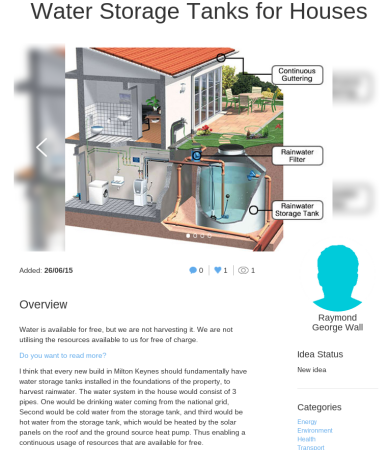 Ray's water idea on ourmk.org