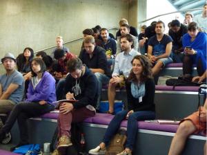 Students listen at TSC